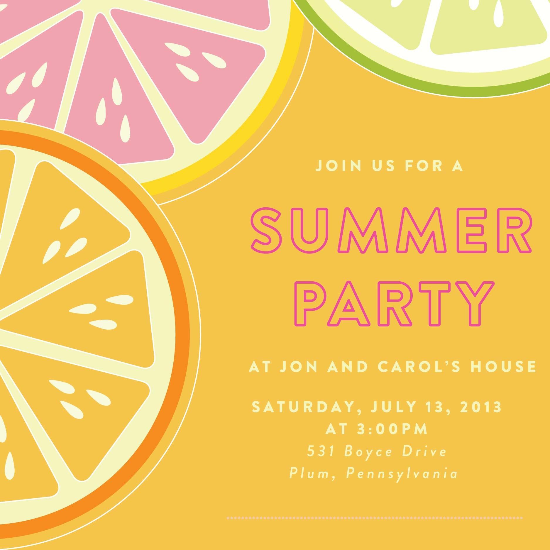 End Summer Party Invitation Ideas Infoinvitation