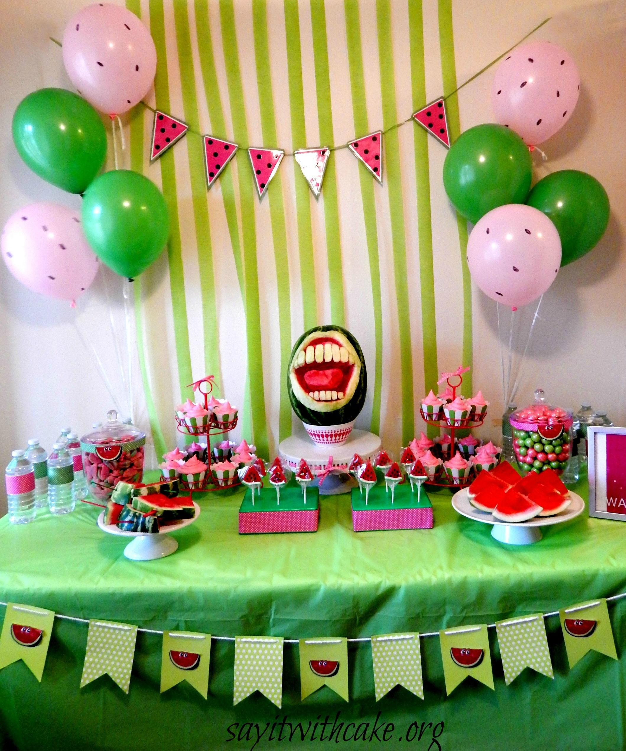 End Summer Watermelon Party Say Cake