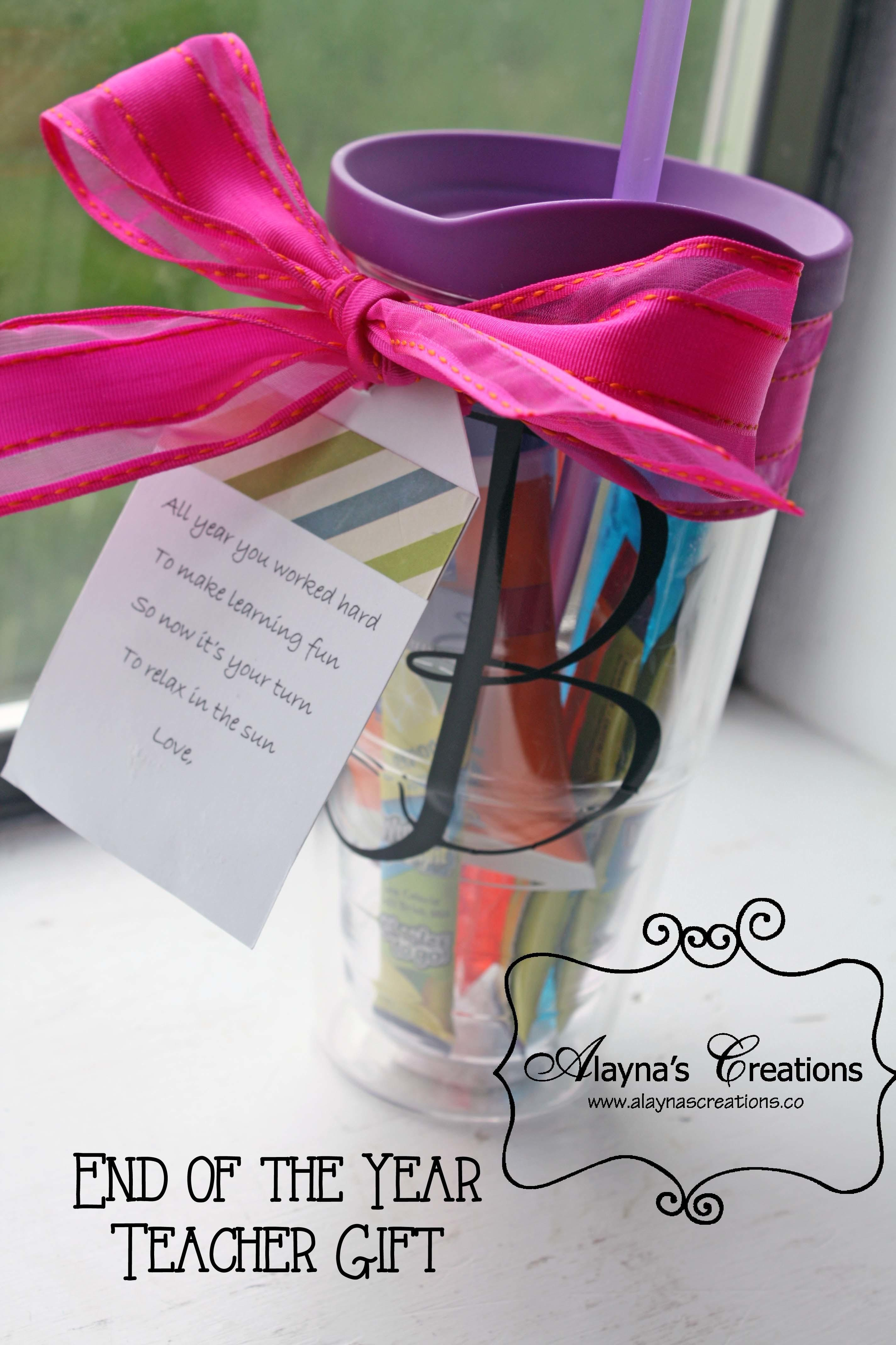 End Year Teacher Gifts Cup Diy Home Decor