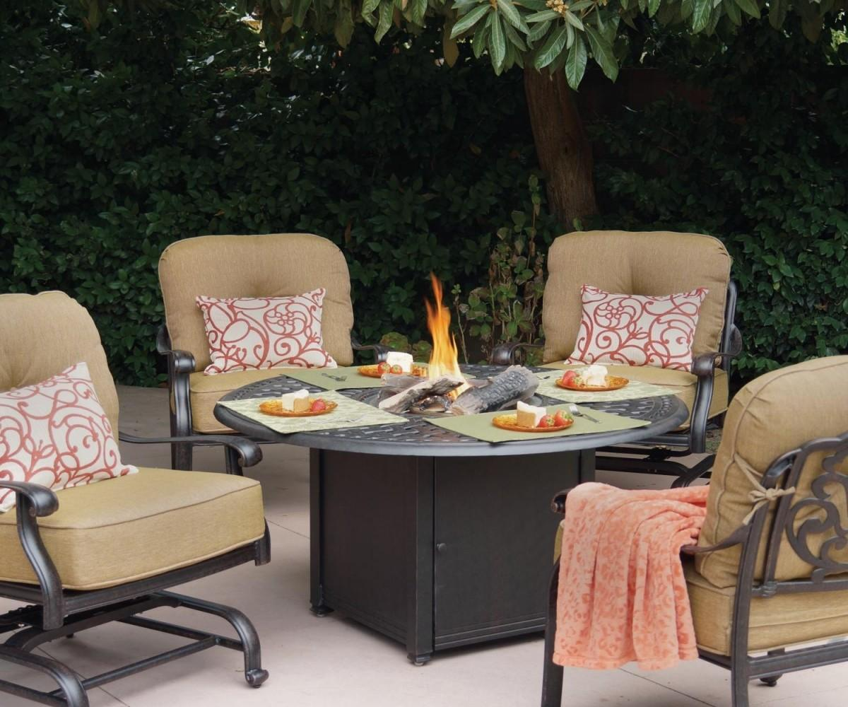 Endearing Steel Patio Fire Pit Conversation Setwith
