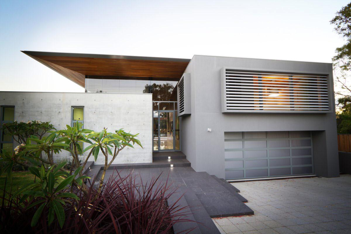 Entrance Glass Door Garage House Dunsborough