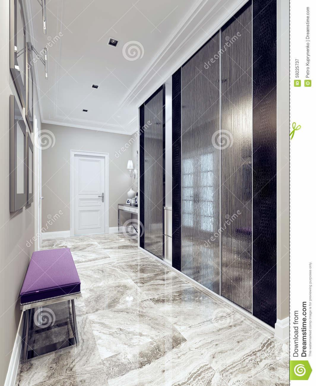 Entrance Hall Modern Style Stock Illustration
