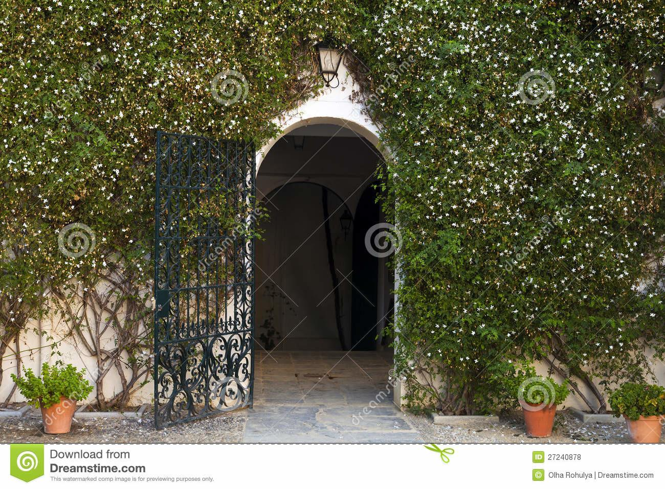 Entrance Spanish Inspired Mansion Home Royalty
