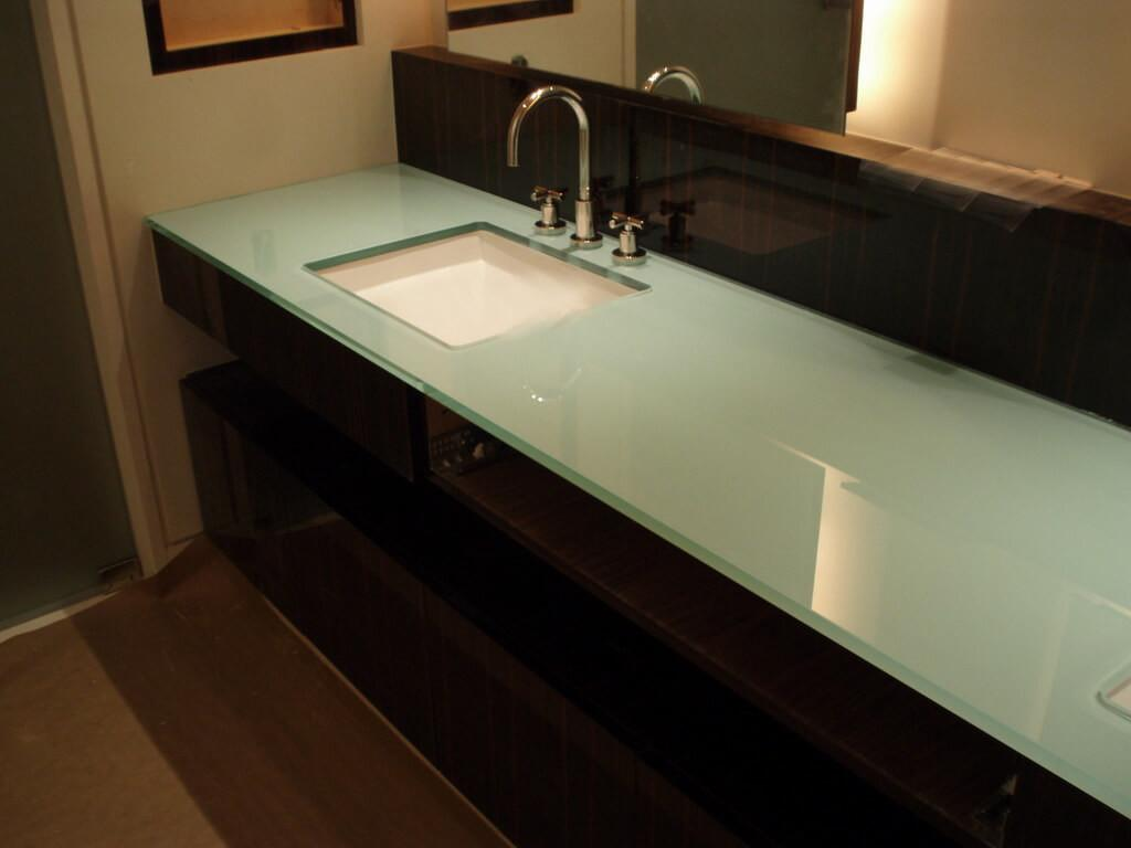Entranching Backpainted Glass Countertops Brooks Custom
