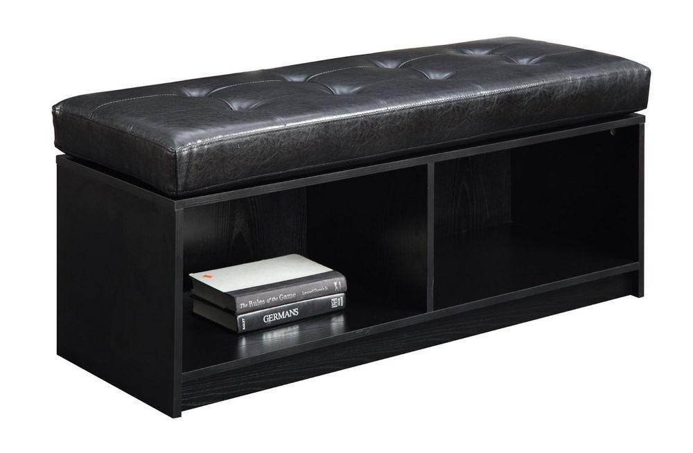 Entryway Bench Storage Ottoman Footstool Upholstered