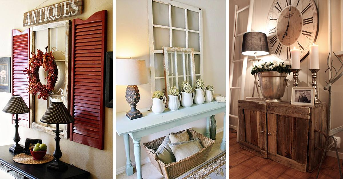 Entryway Decorating Ideas Best Rustic