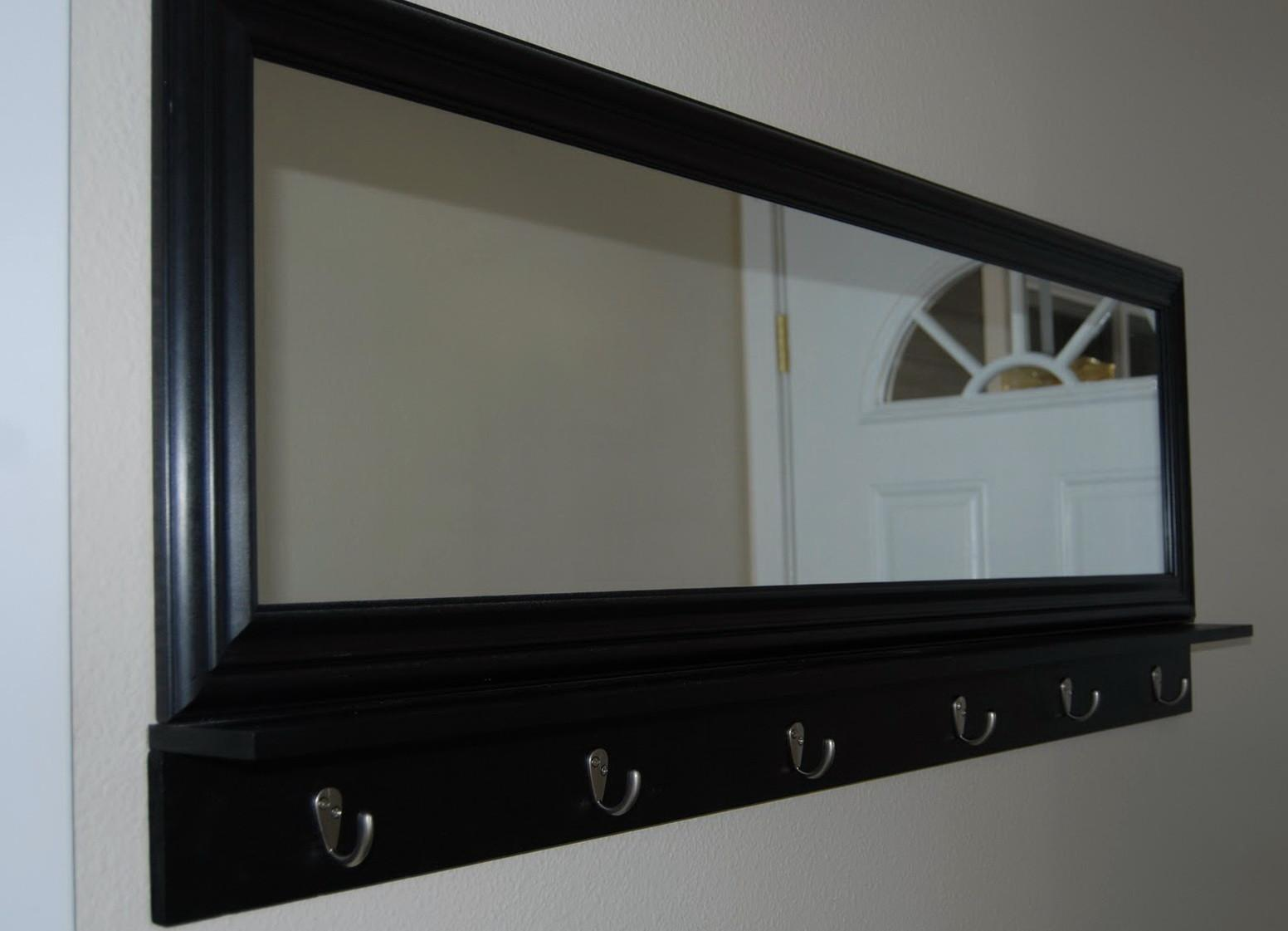 Entryway Mirror Hooks White Home Design Ideas
