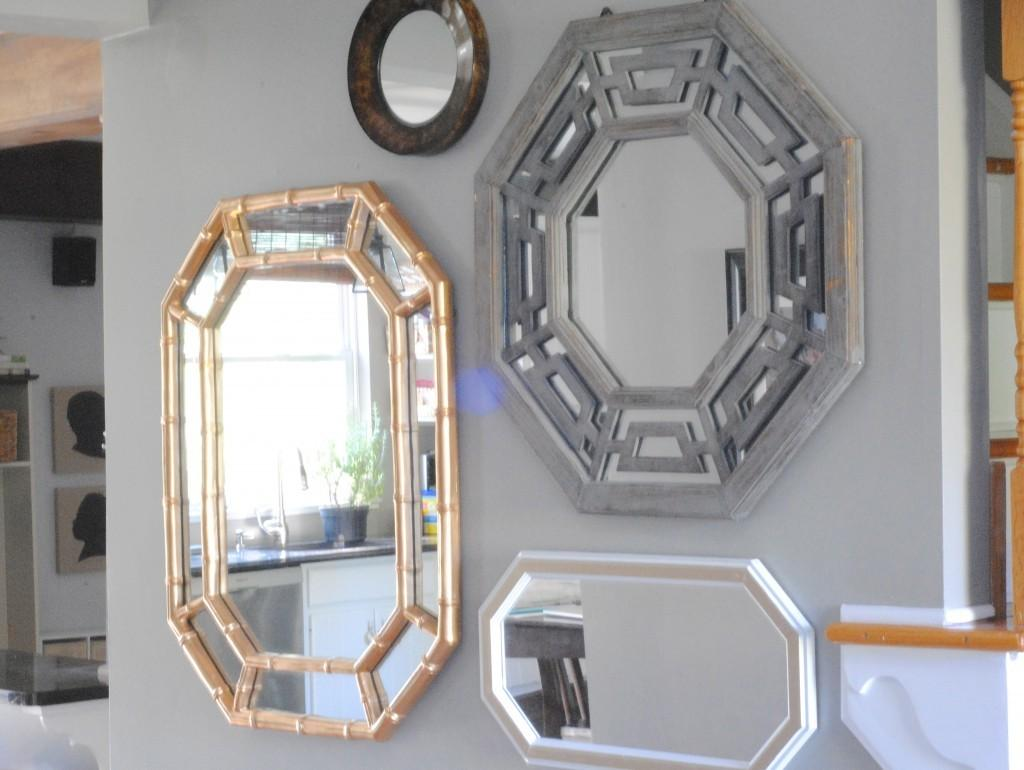 Entryway Mirrors Shapes Frame Stabbedinback Foyer