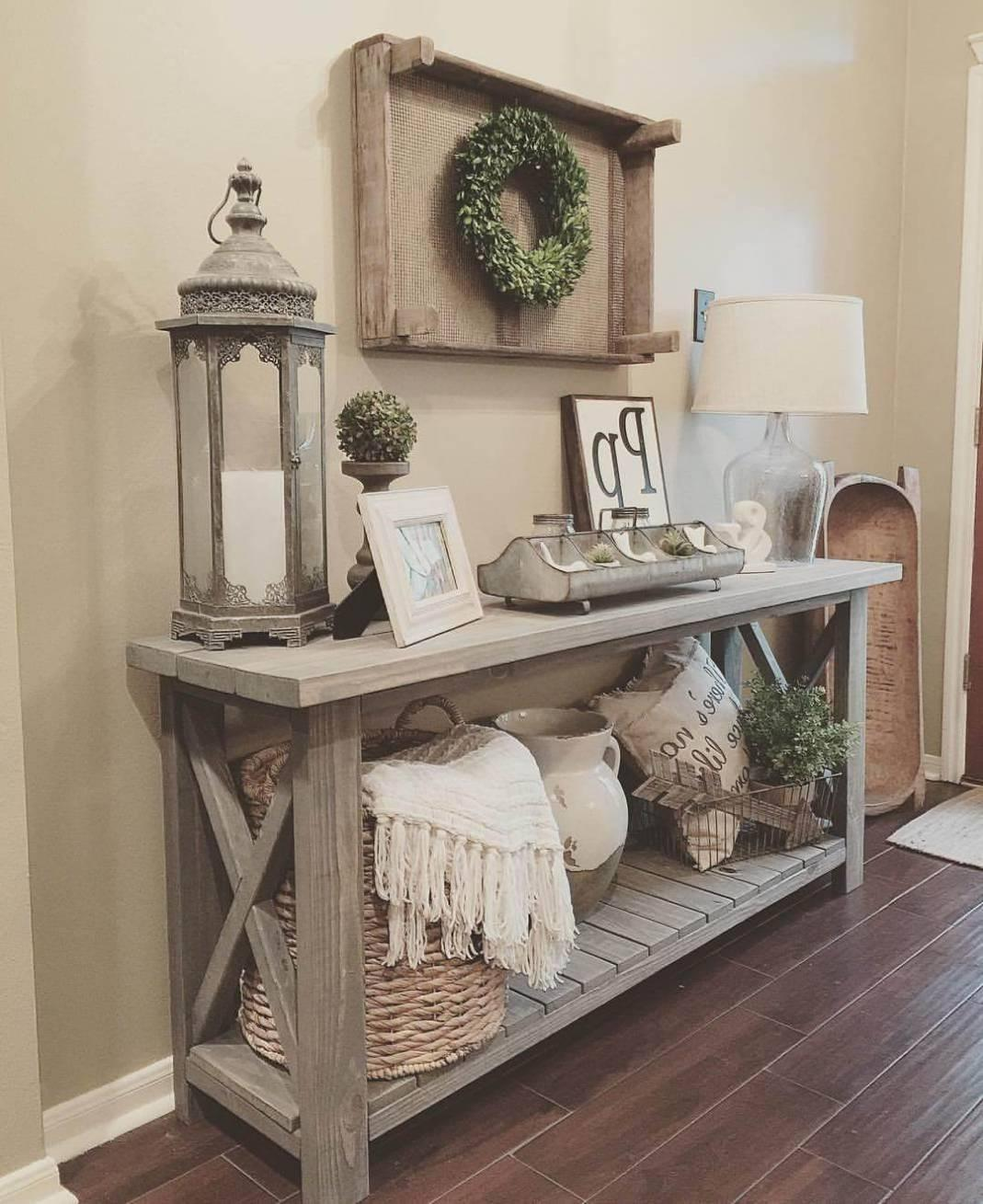 Entryway Table Decor Enchanting Farmhouse