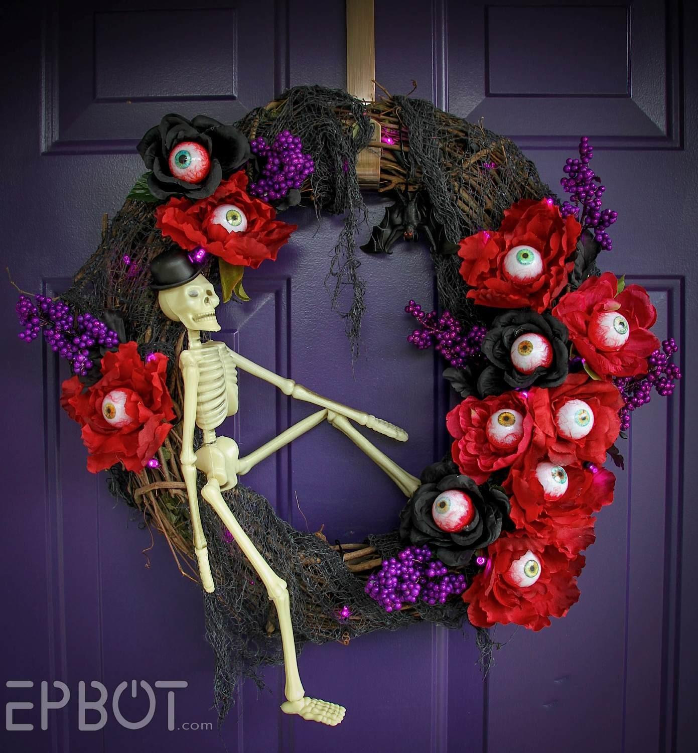 Epbot Got Eyes Halloween Wreath Diy