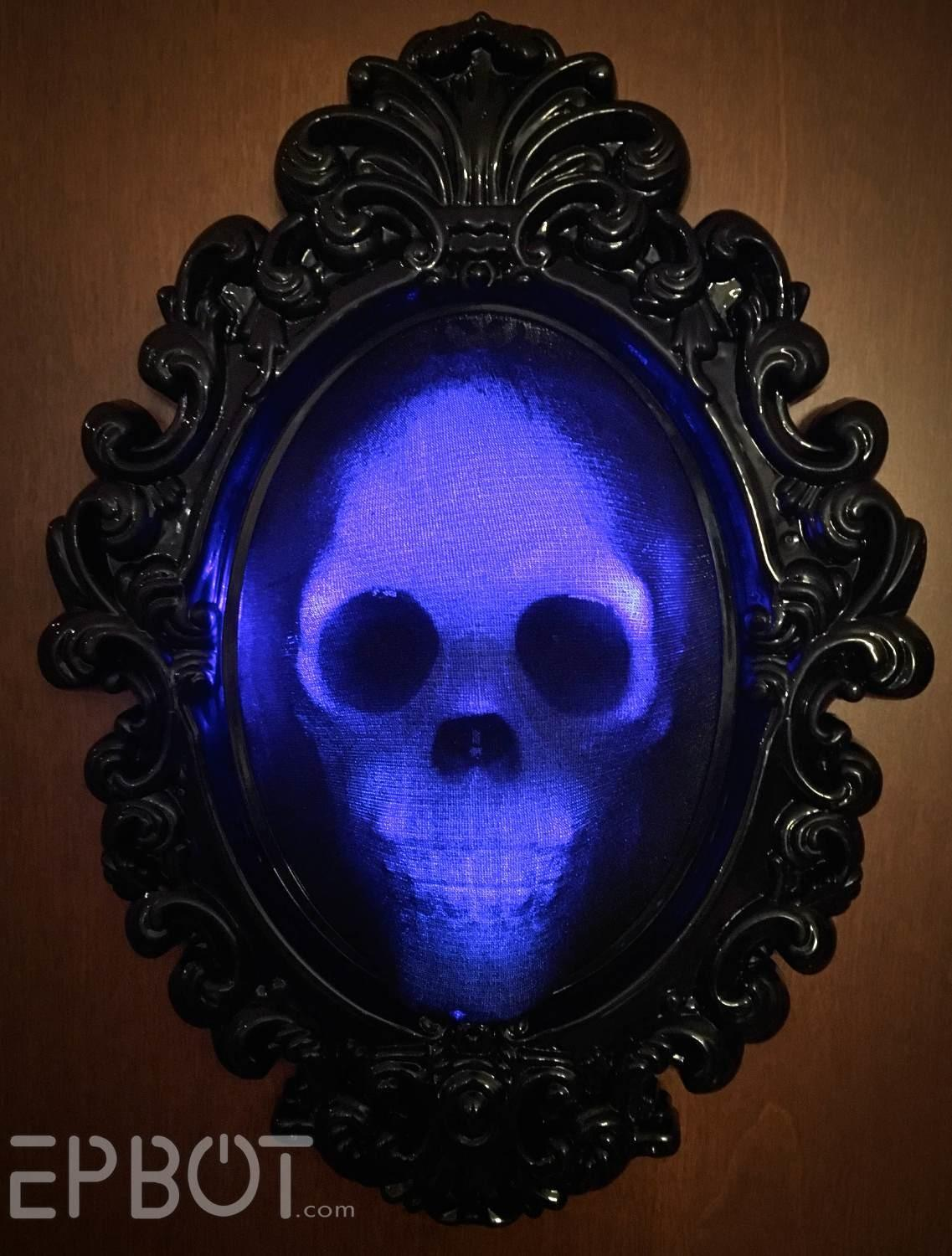 Epbot Halloween Quick Craft Spooky Glowing Skull Frame