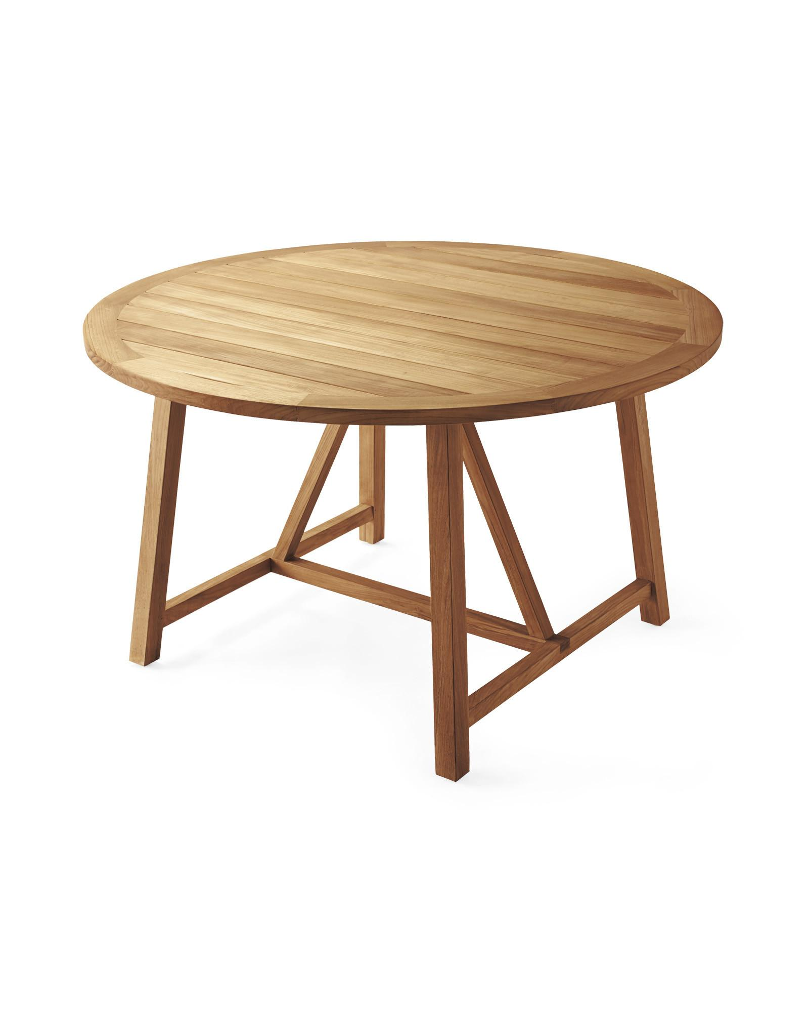 Epic Round Teak Dining Table Modern Home Decor
