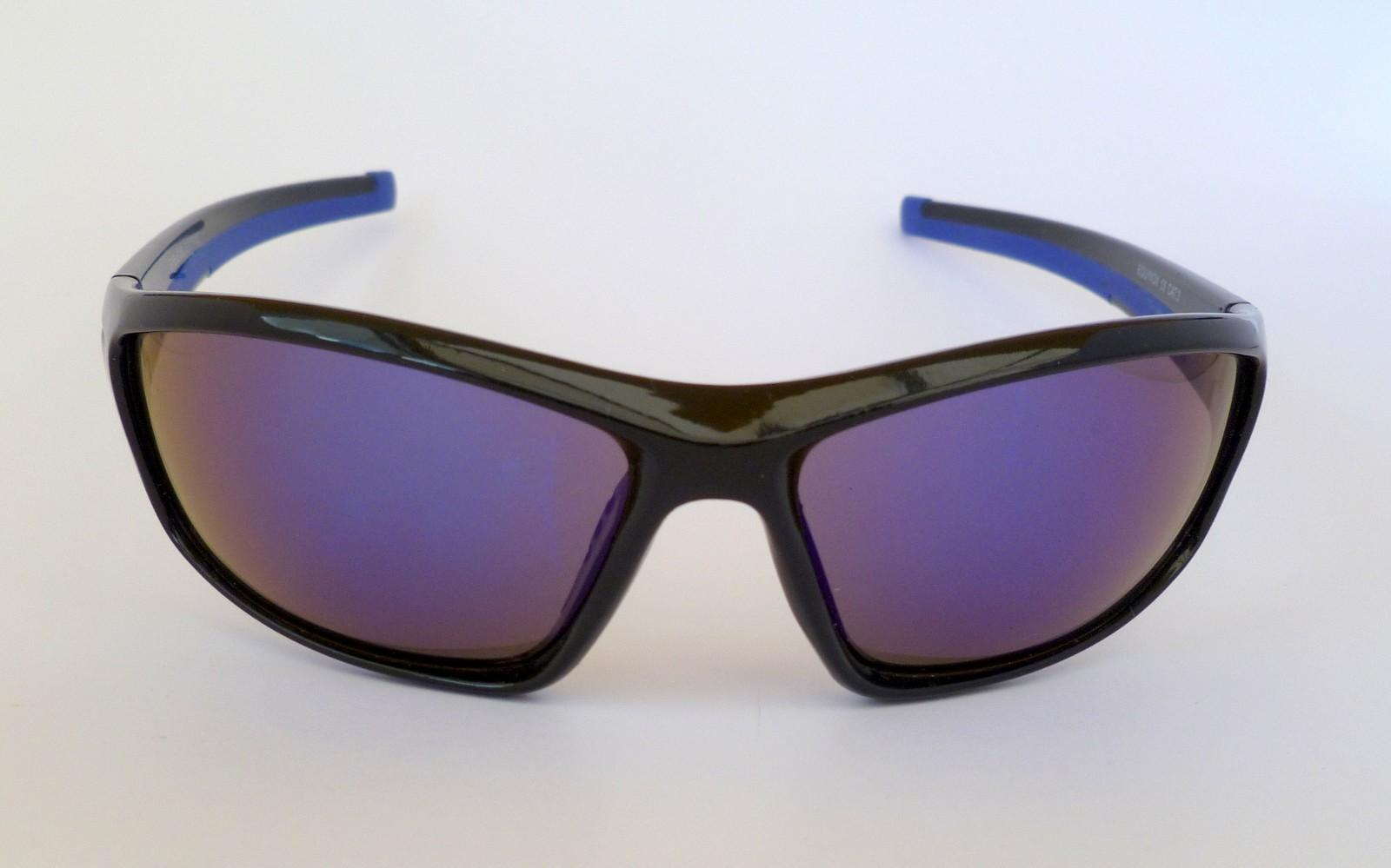 Equinox Sports Sunglasses Blue Tinted Mirror Cat Uv400