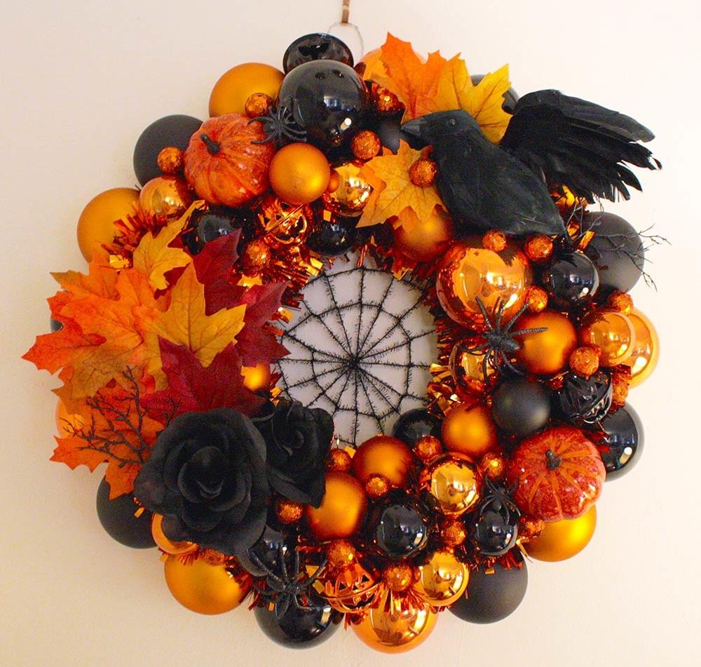 Erika Makes Fabulous Halloween Wreath Using Our