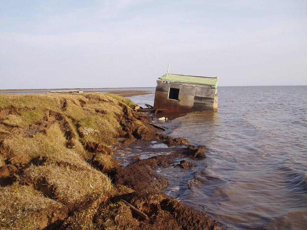 Erosion Doubles Along Part Alaska Arctic Coast