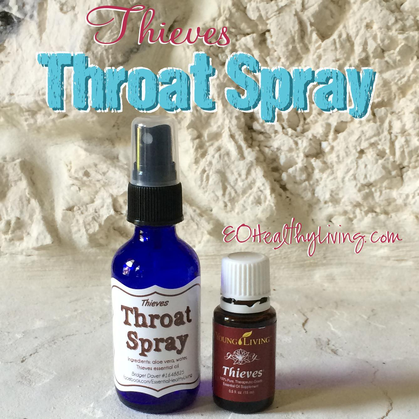 Essential Healthy Living Homemade Diy Thieves Throat Spray
