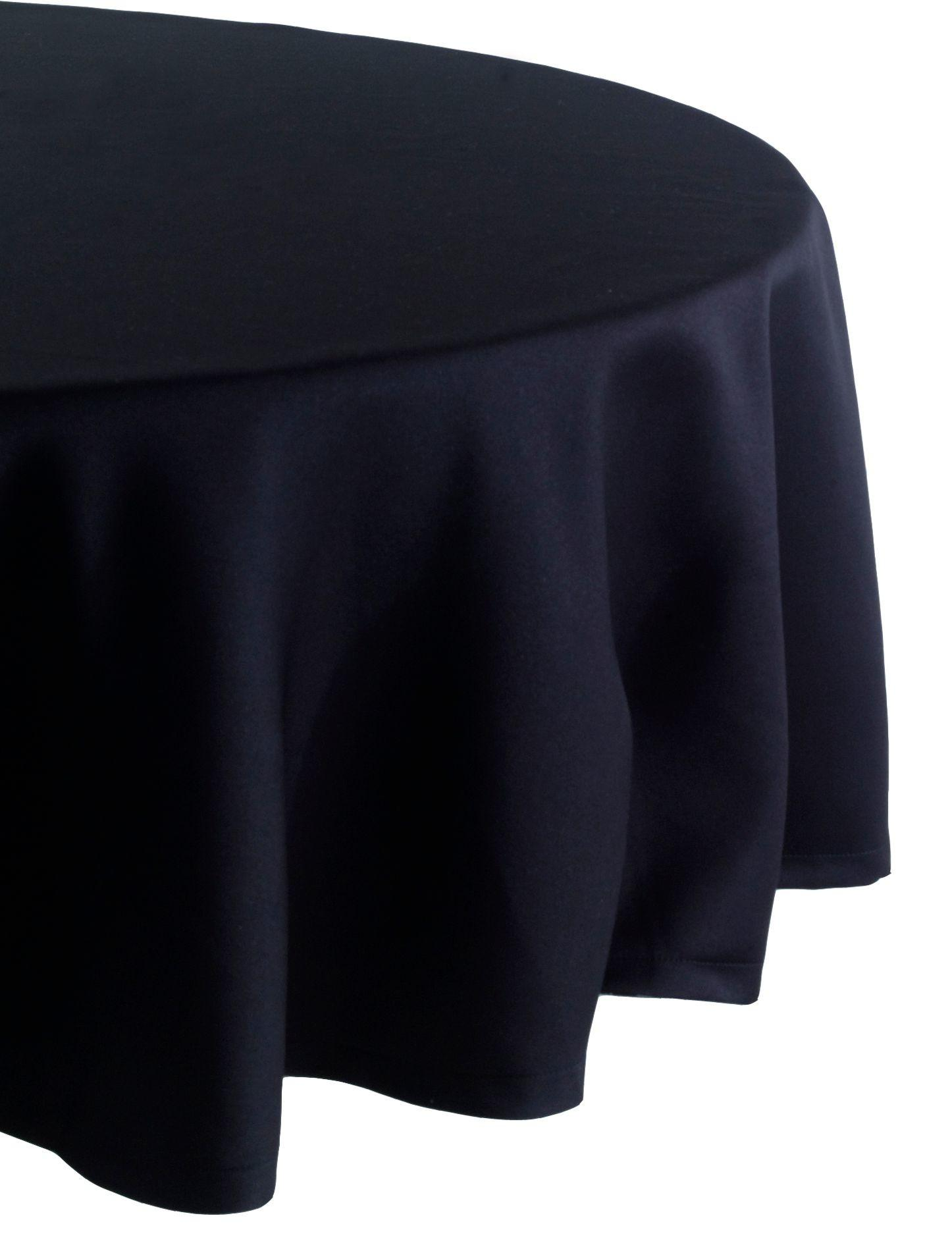Essential Home 70in Round Black Tablecloth Dining