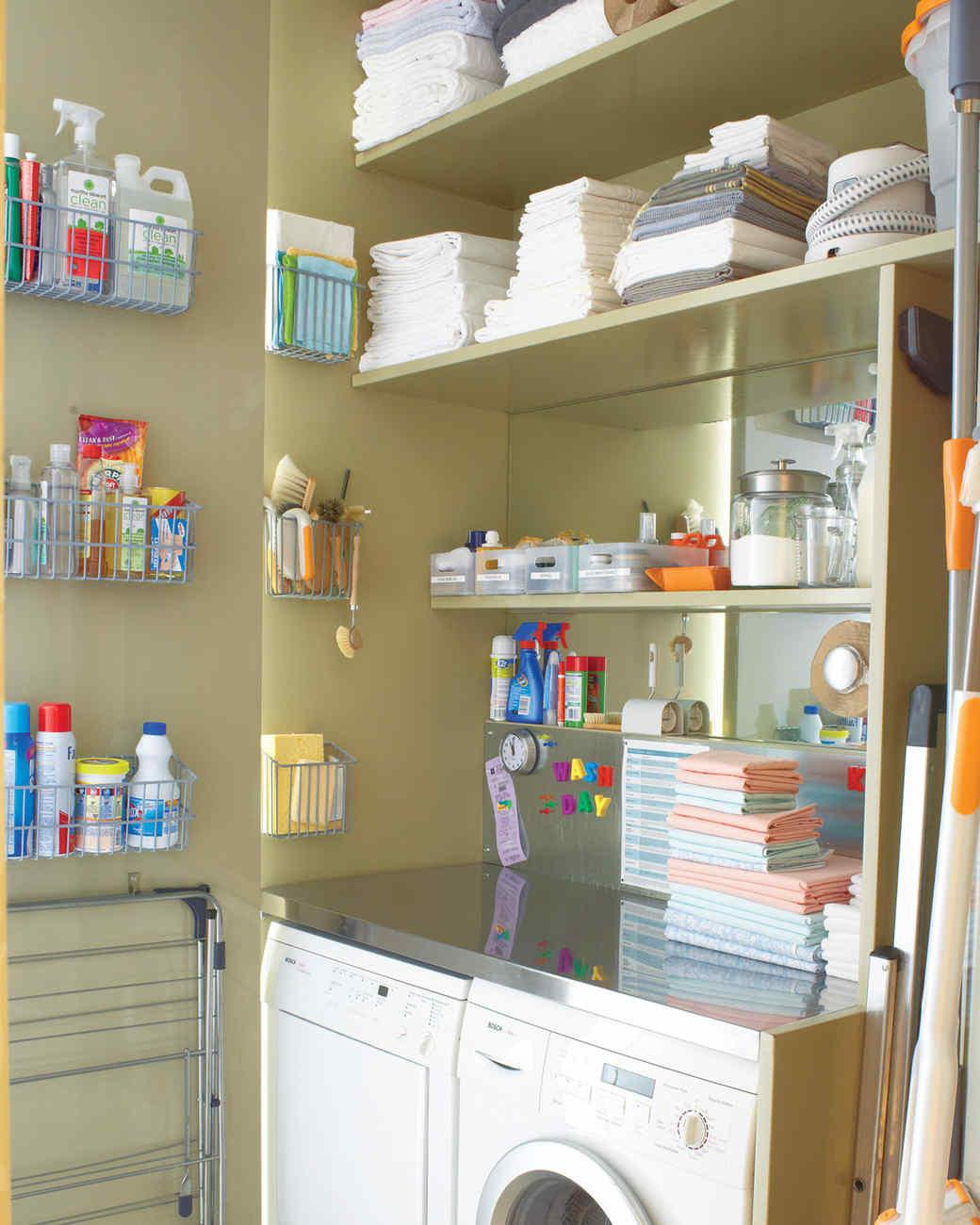 Essential Laundry Room Organizing Ideas Martha Stewart