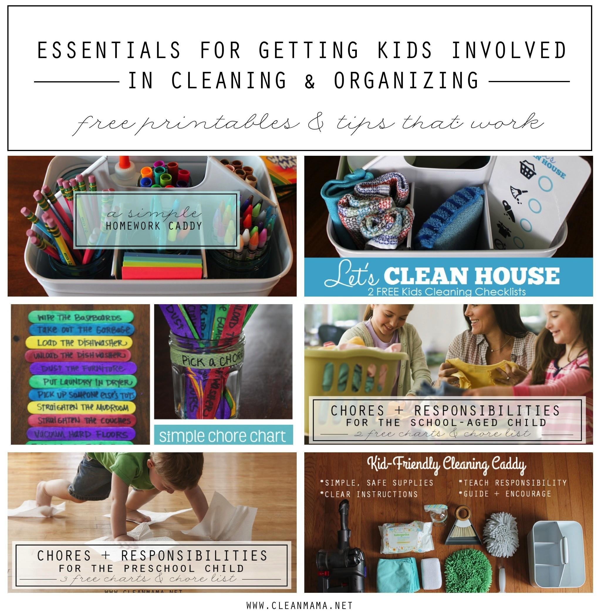 Essentials Getting Kids Involved Cleaning