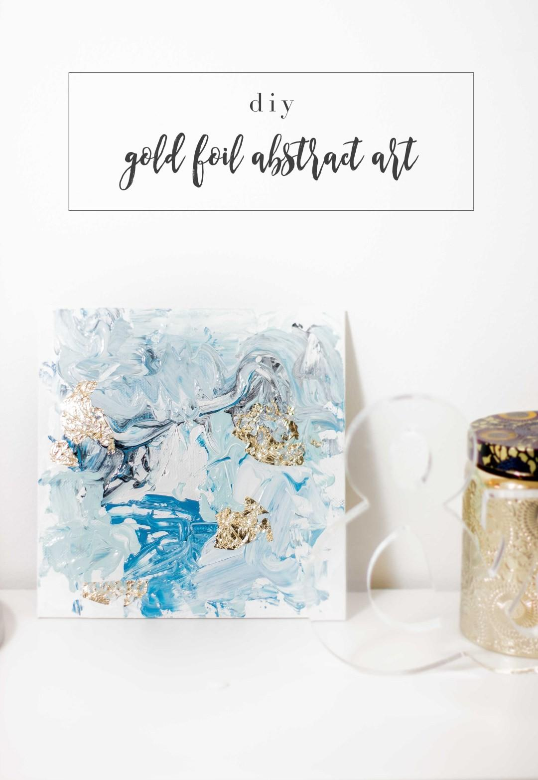 Essie Does Summer Diy Abstract Gold Foil Art