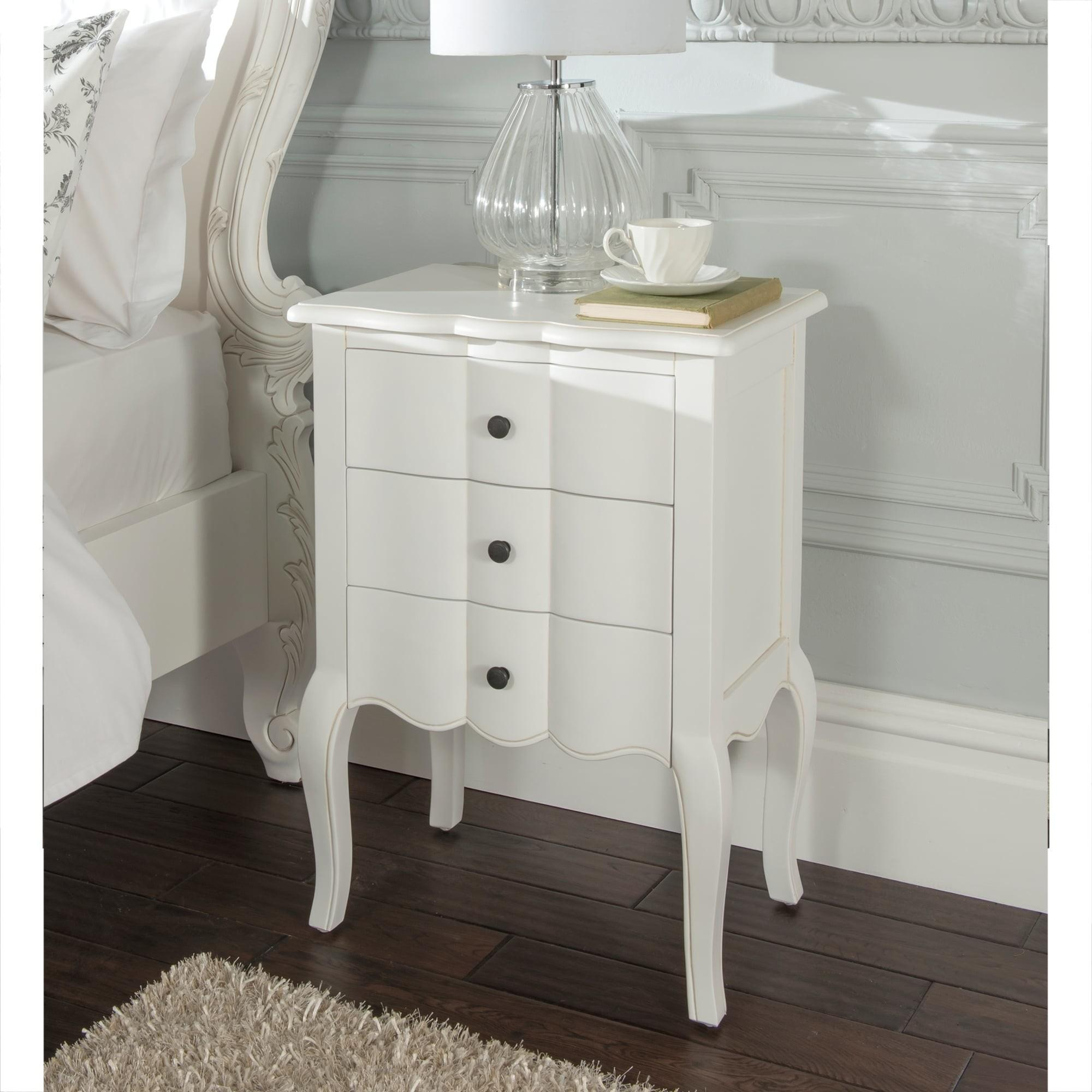 Estelle Antique French Style Bedside Table Shabby Chic