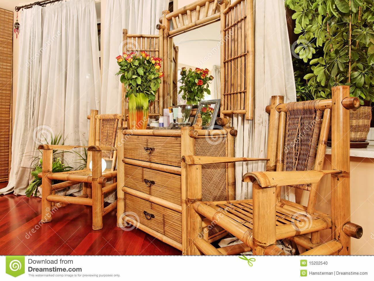 Ethnic Bamboo Furniture Stock Chest