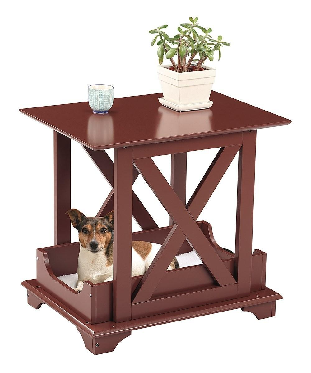 Etna Wooden End Table Pet Bed Zulily