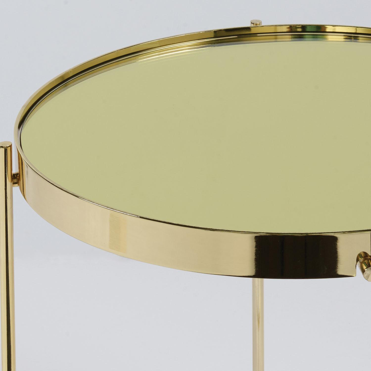 Eurostyle Trinity Round Side Table Gold Tinted Mirror