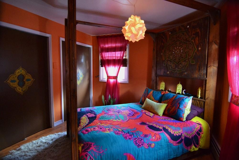 Eve Hot Jewel Tones Bedroom Apartment Therapy