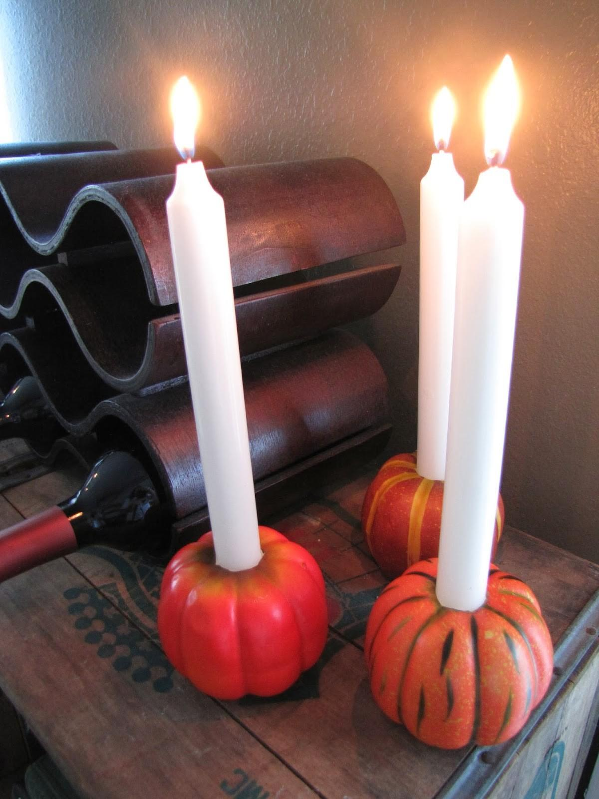 Events Uncorked Party Diy Pumpkin Candle Holders