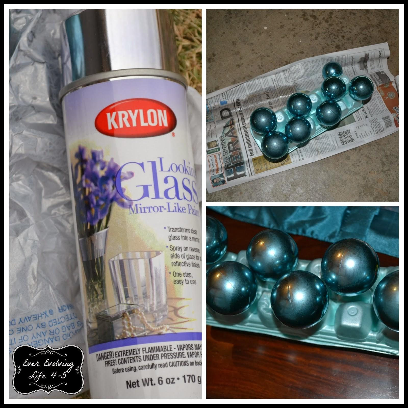 Ever Evolving Home Diy Faux Mercury Glass Ornaments