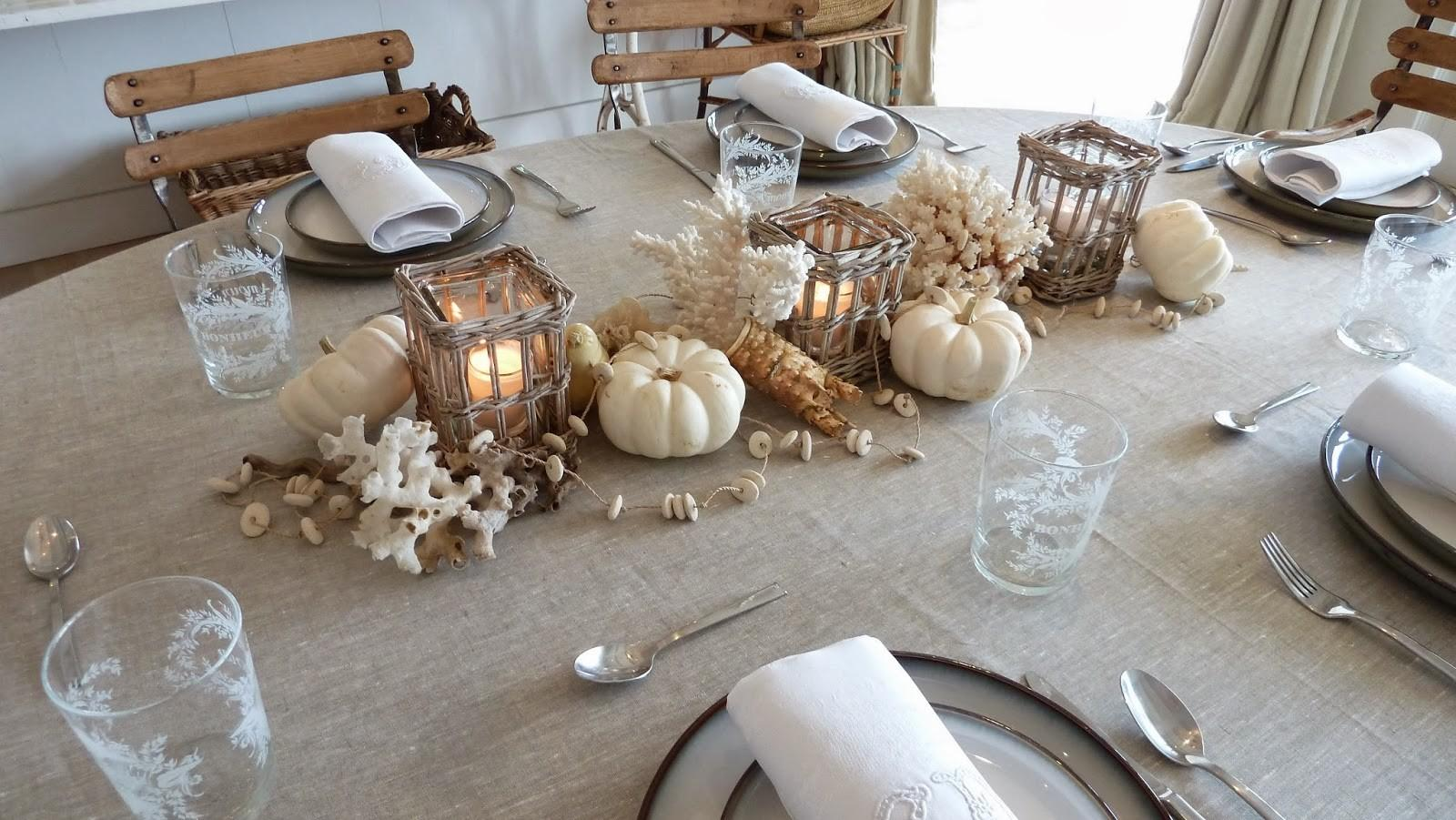 Everything Coastal Autumn Beach Tablescape