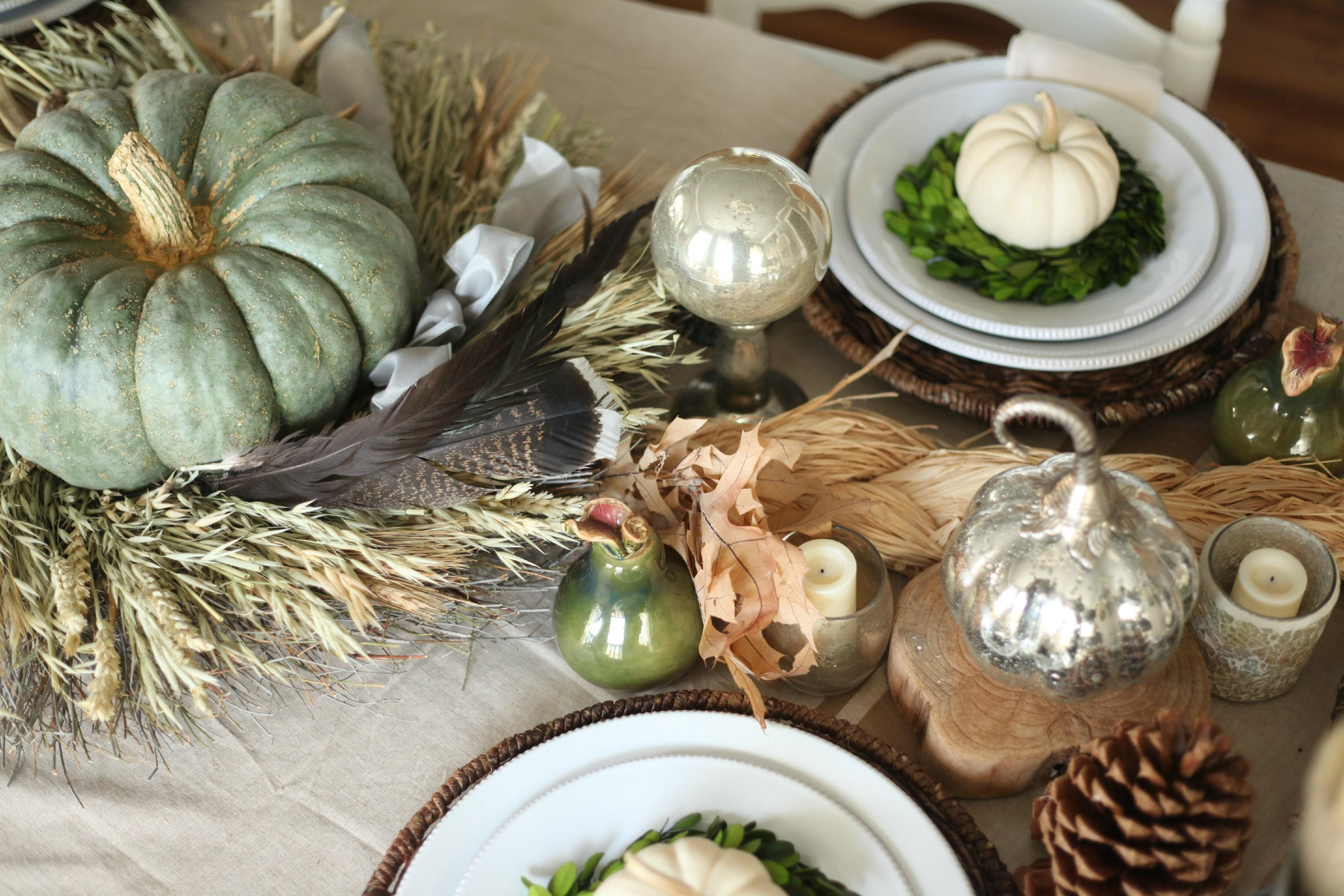 Everything Give Thanks Thanksgiving Day Table Setting