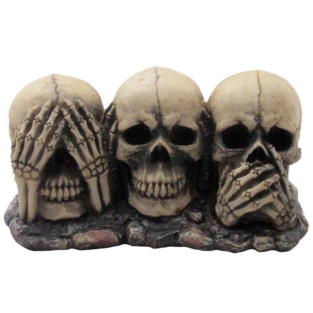 Evil Skulls Figurine Scary Halloween Decorations Spooky