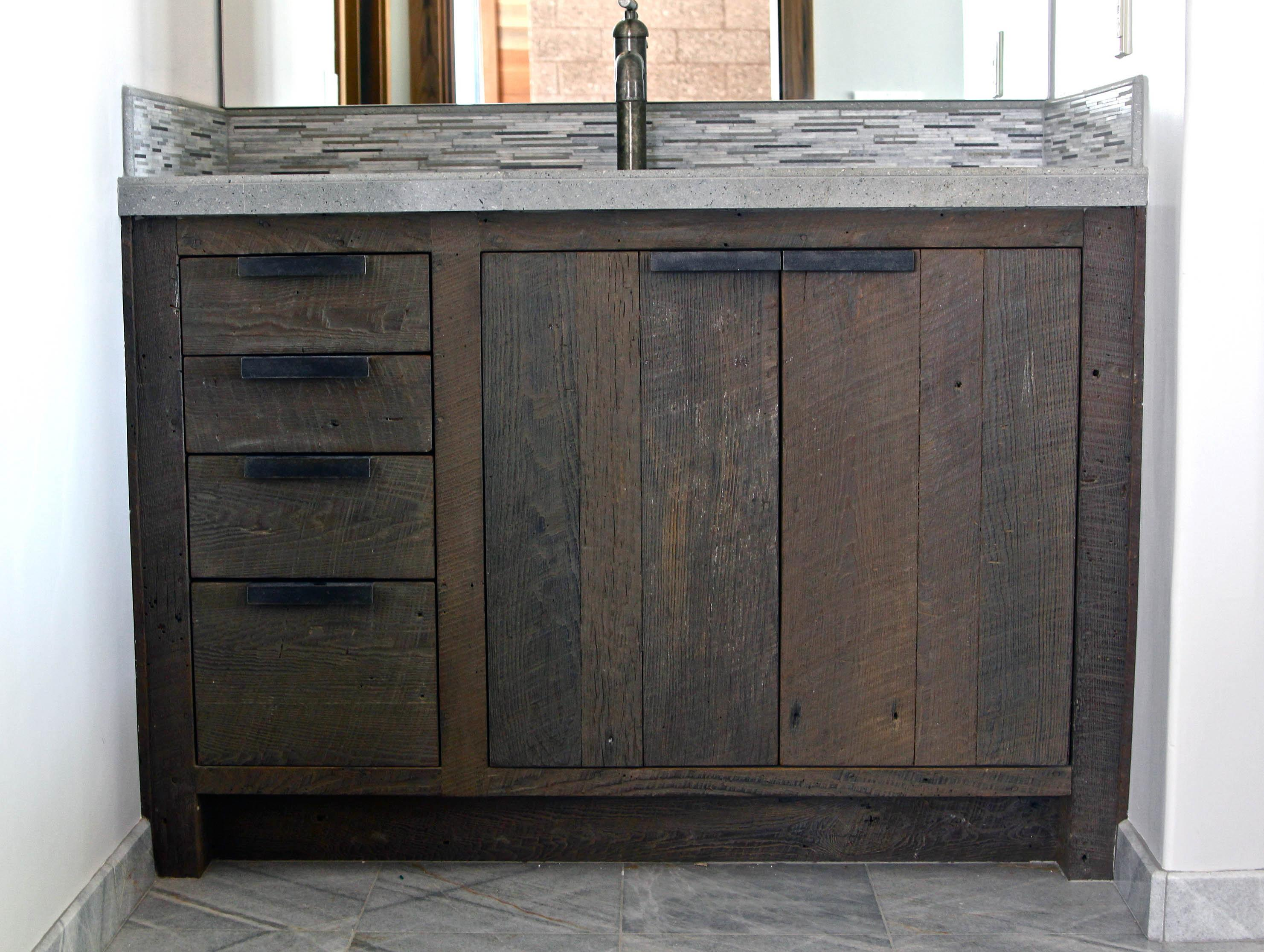 Examples Perfect Reclaimed Wood Vanity
