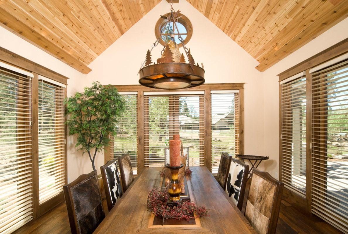 Excellent Bamboo Venetian Blind Tropical Dining Room