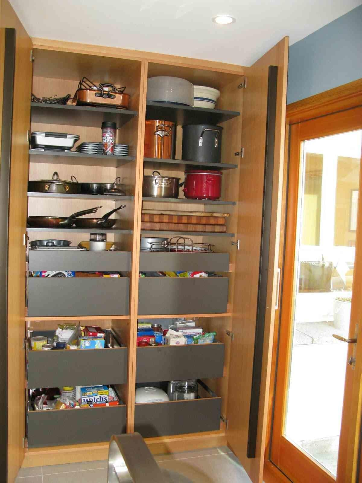 Excellent Galley Kitchen Organizing Pantry System