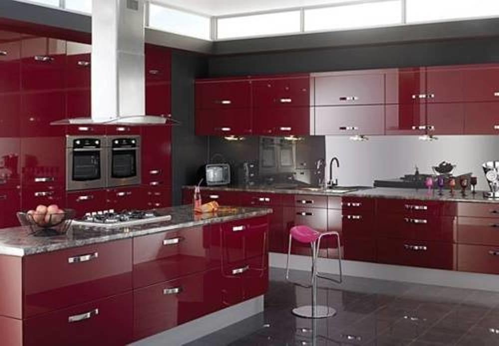 Excellent Red Kitchen Cabinets Your Home Coziness