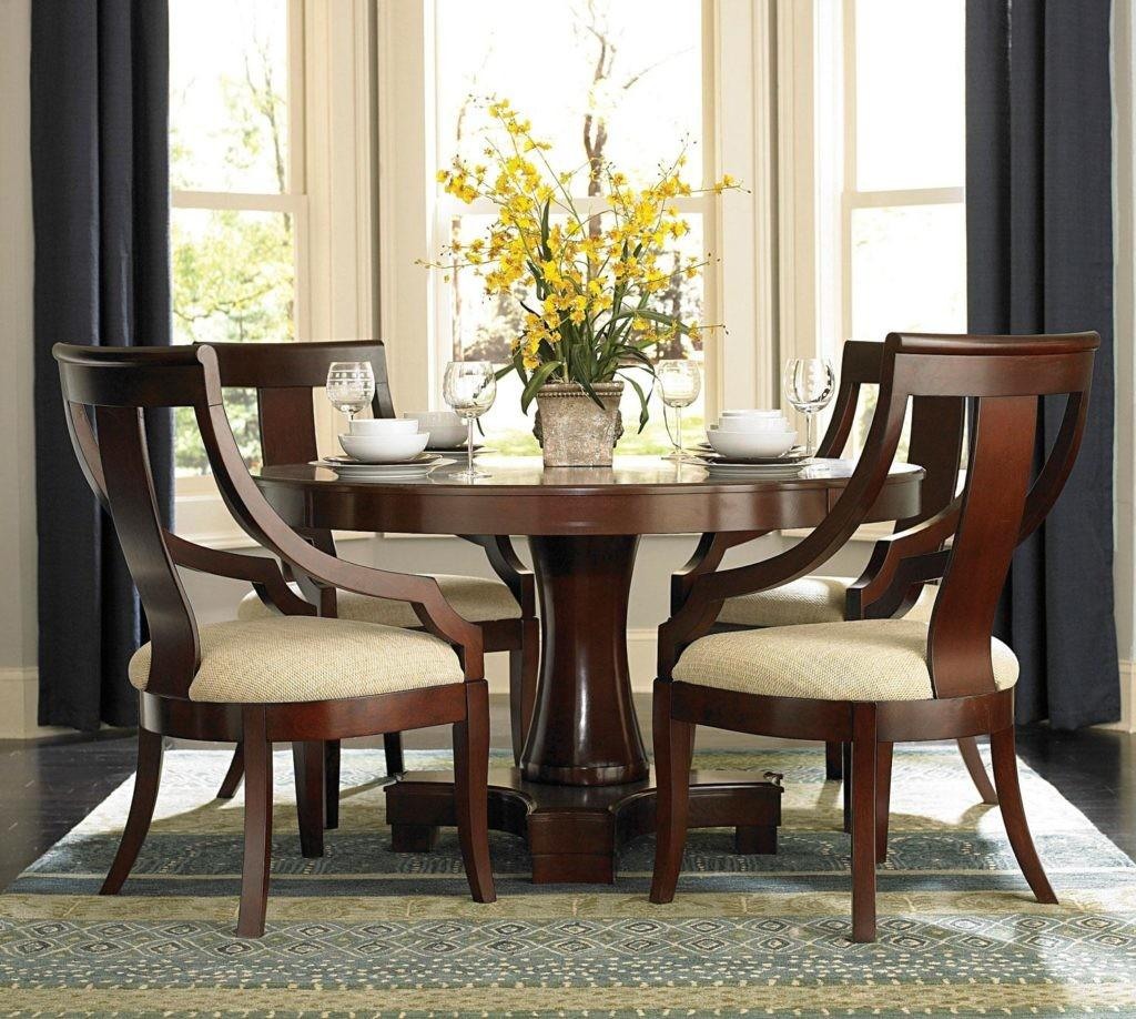 Excellent Transitional Round Dining Table Chairs