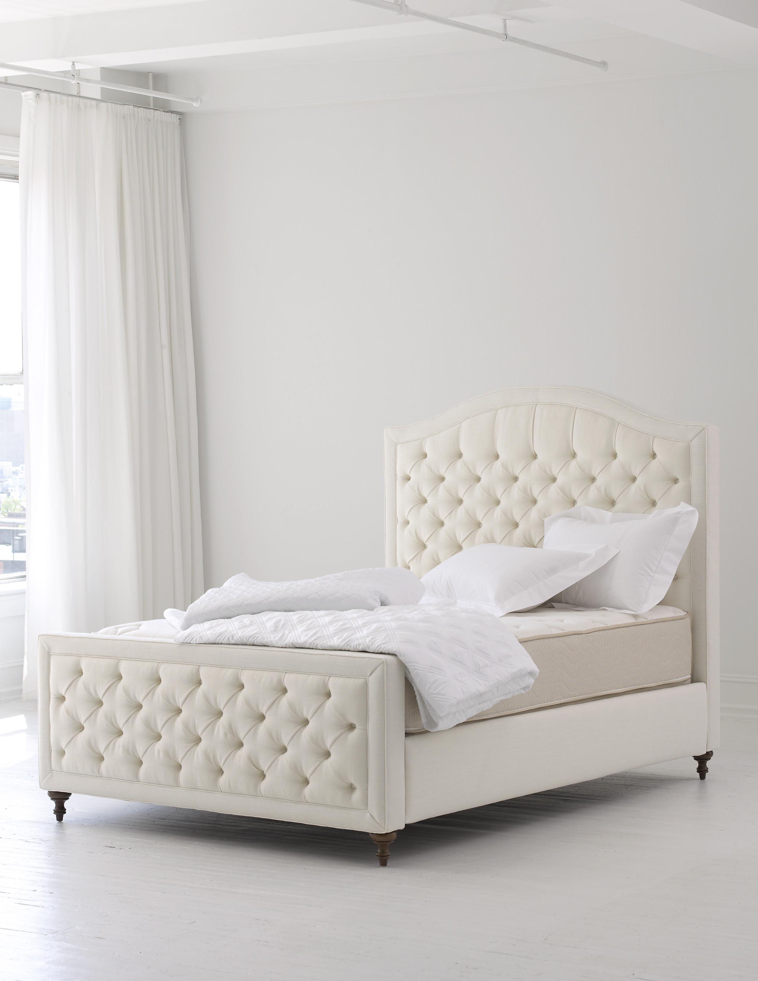 Excellent White High Tufted Bed Headboard Cover