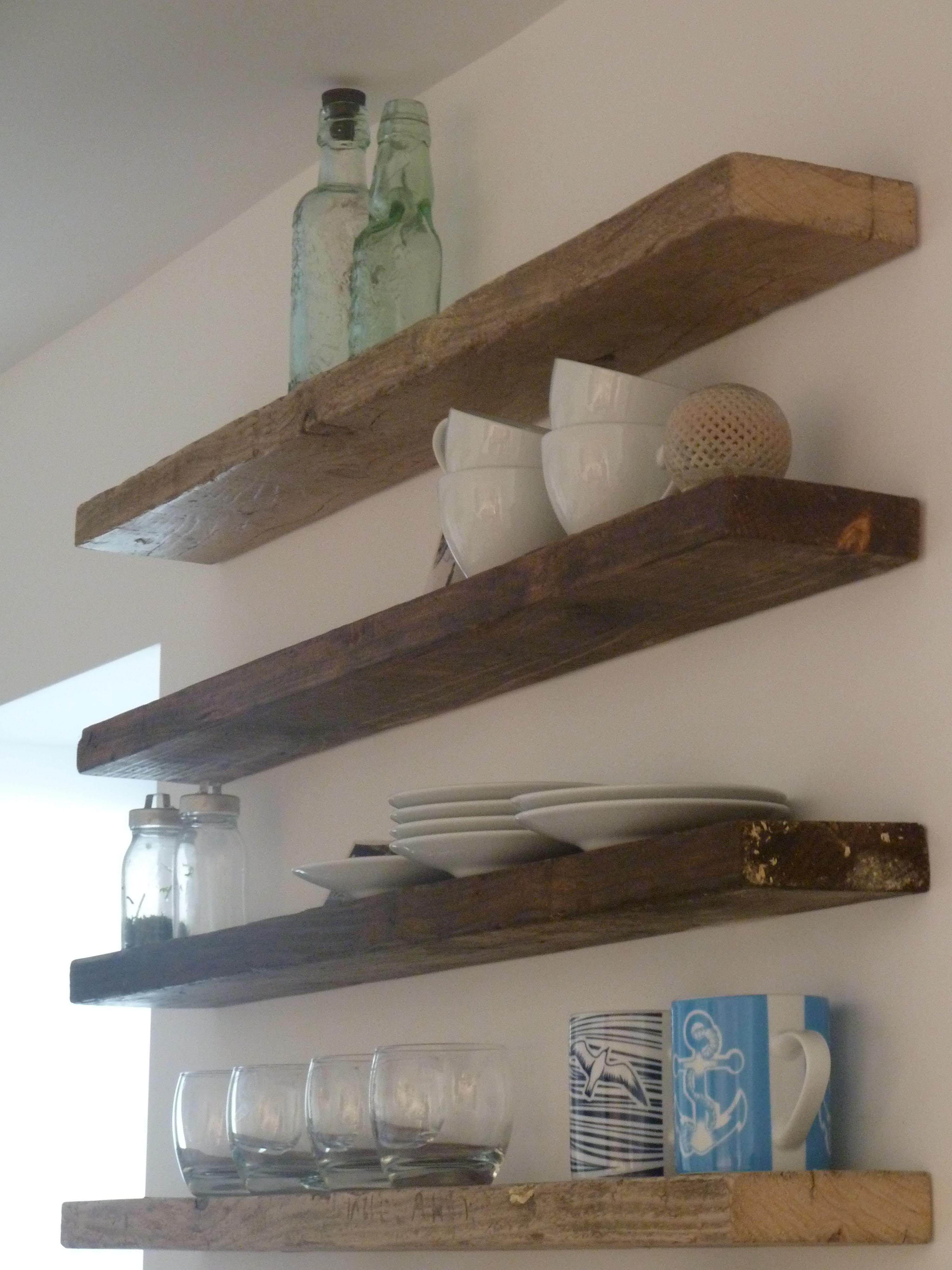 Exceptional Simple Wood Wall Shelf Kitchen Photos Part