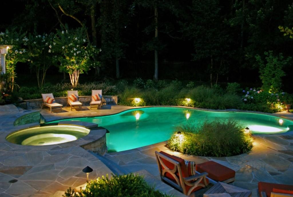 Exclusive Led Lighting Cute Swimming Pool Design
