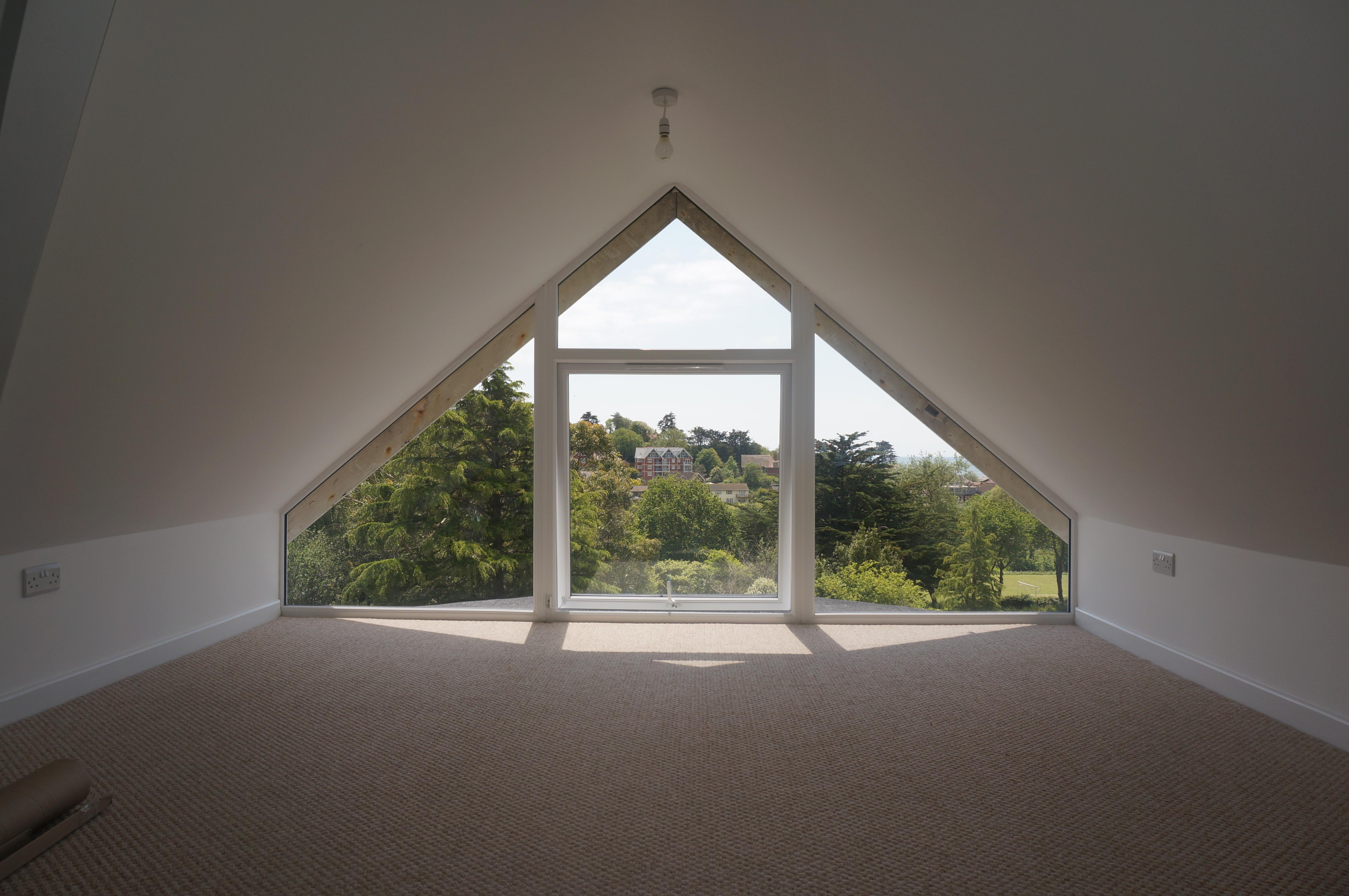Exmouth Glass Gable Twin Pitched Roof Dormer Loft