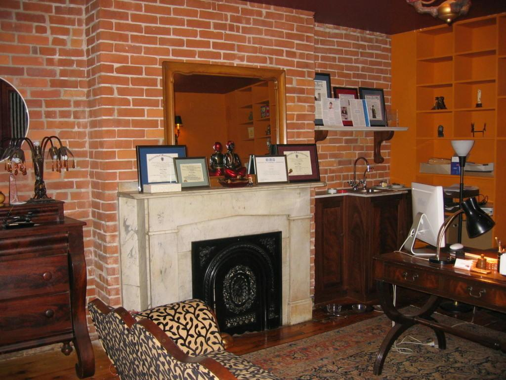 Exposed Brick Wall Monkey Room Home Office