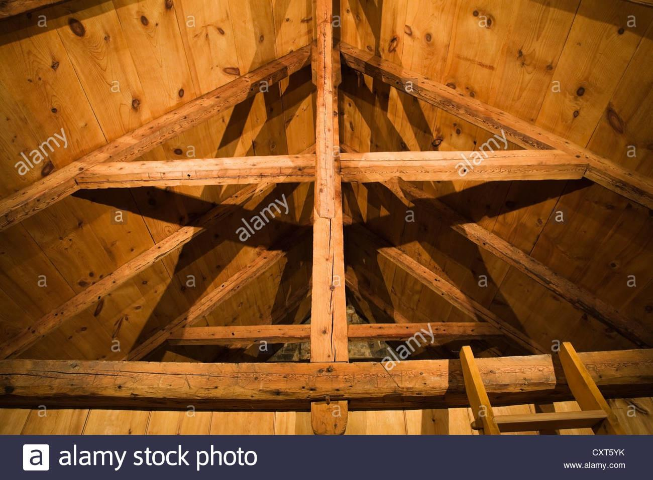 Exposed Wooden Beams Rafters Roof Boards Framework