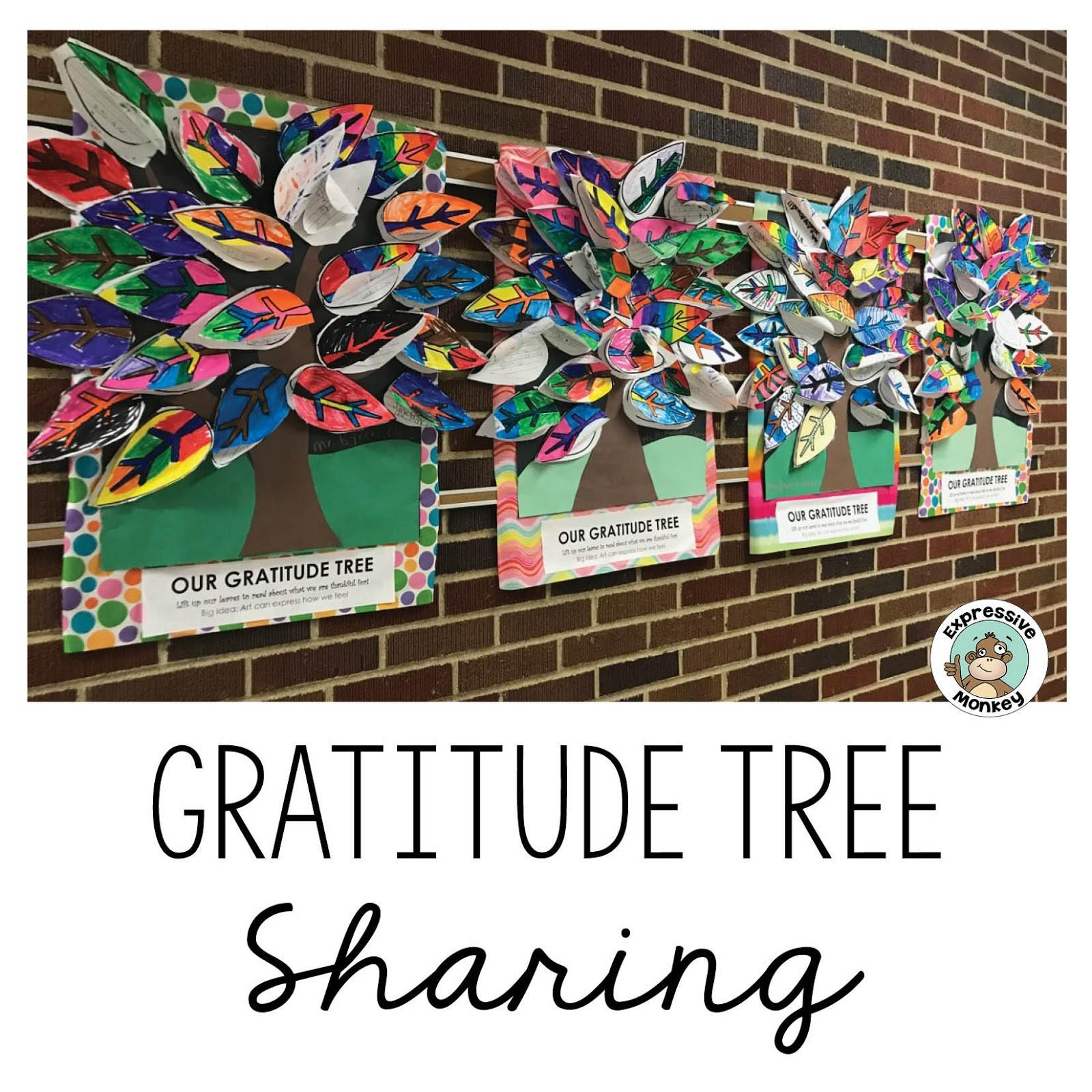 Expressive Monkey Gratitude Trees All Over