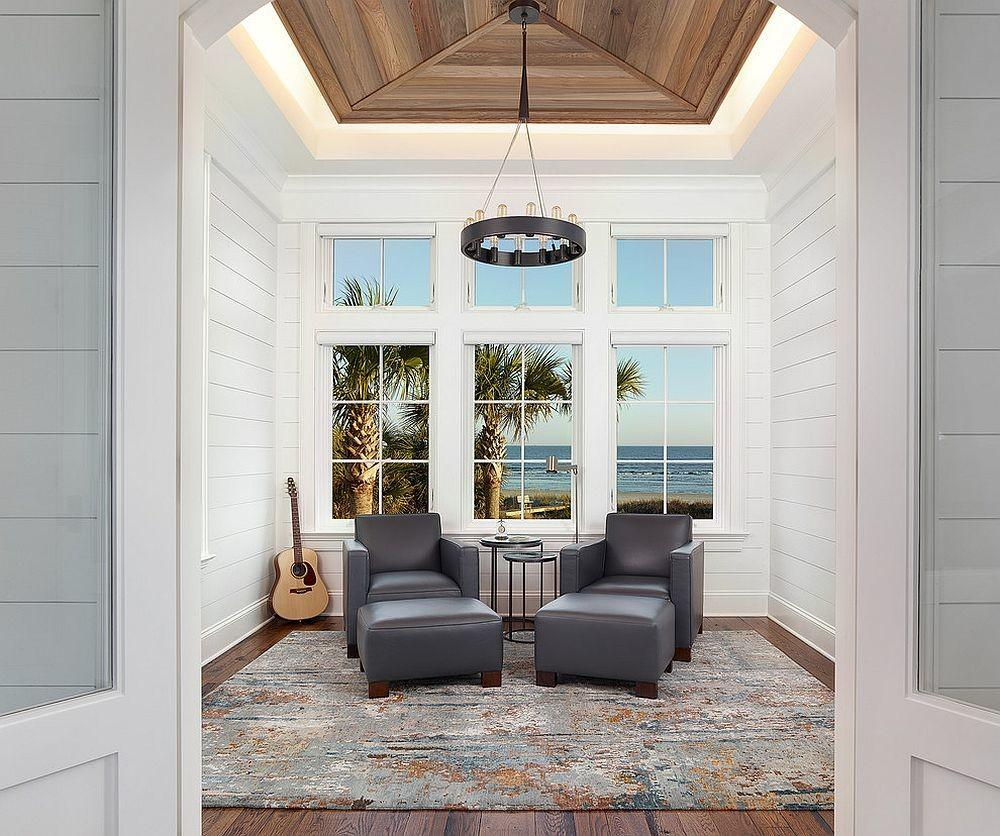 Exquisite Beach Style Sunroom Borrows Clean Lines
