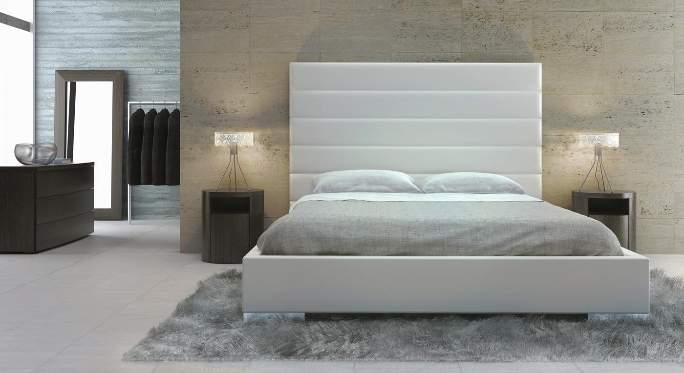 Exquisite Leather High End Platform Bed Long Beach