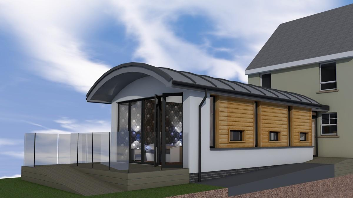 Extension Banknock Contemporary Plans Using Sips