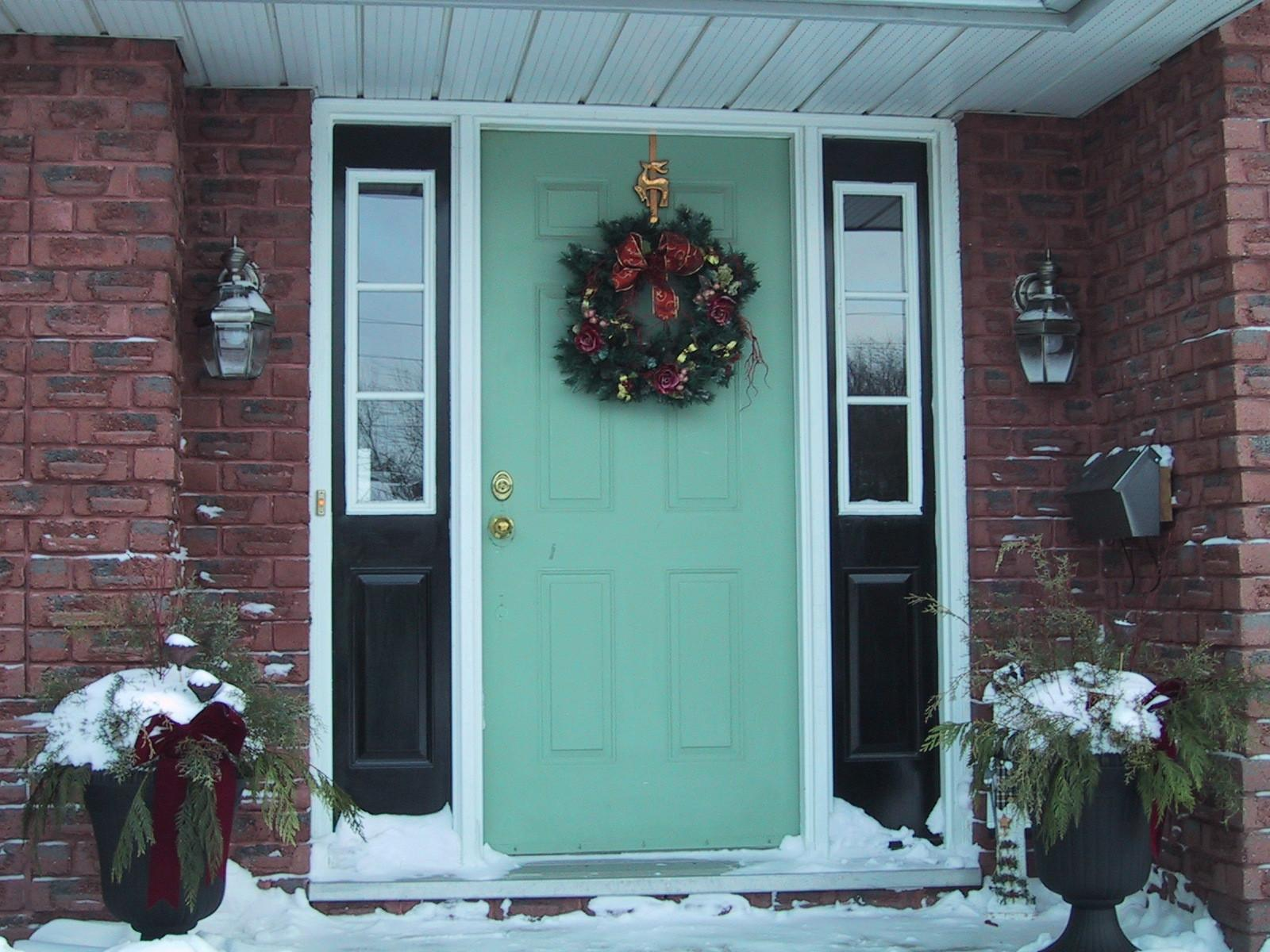 Exterior Front Doors Door Design Ideas Christmas